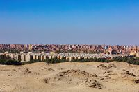 Cairo city skyline, Giza Plateau, Egypt