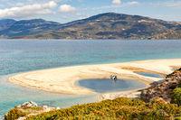 The beach Megali Ammos of Marmari in Evia island, Greece