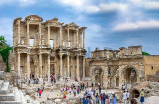 Library of Celsus in antique Ephesus, Turkey