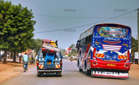 Auf den Straßen von Uganda   On the streets of Uganda