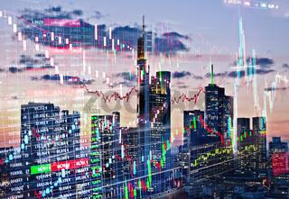 Handel am Finanzmarkt Frankfurt