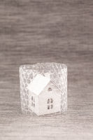Kleines Haus in Luftpolsterfolie