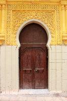Arabic oriental styled door in Rabat