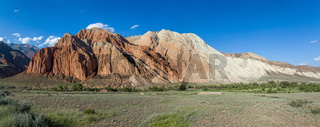 Panorama of eroded rocks in Kekemeren valley