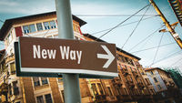 Street Sign New Way