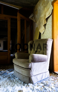 einsamer Sessel