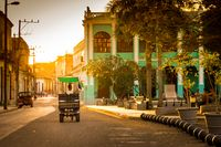 Cuban Tuktuk in the Street of Camaguey, Cuba