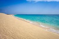 Ponta preta beach and dune in Santa Maria, Sal Island, Cape Verde
