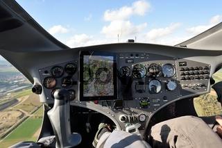 Cockpit eines Gyrokopters