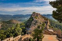 Panoramic view of Xativa Castle, Valencia, Spain