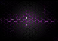 Schwarzes sechseckiges Muster auf lila Magma Hintergrund