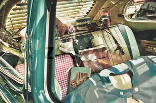 In diesem Auto fuhren einst ganze Familien in den Urlaub