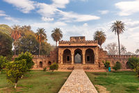 Humayun's Tomb Gates, scenery of India, New Delhi