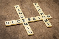 pandemic and economy recession crossword