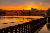 Panorama of old Prague
