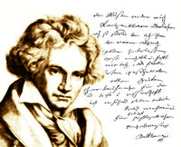 Handwritten letter by Beethoven to his publisher Schott, Ludwig van Beethoven, 1770 -1827,  German composer