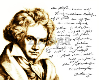 Handwritten letter by Beethoven to his publisher Schott, Ludwig van Beethoven, 1770 -1827,  German composer