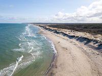 Aerial view of Liseleje Beach, Denmark