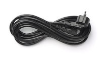 Rolled black power cable