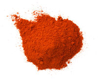 Cayenne Pepper Powder Pile Isolated On White