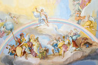 fresco ettal Jesus and rainbow