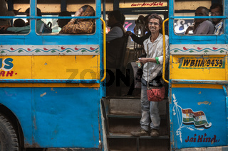 Yellow cabs and hand-pulled rickshaws are very commonly used in Calcutta..Most of the Indian also uses colorful buses as a public transportation vehicle.