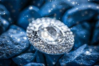 Luxury diamond earrings closeup, jewelry and fashion brand
