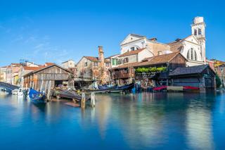 Gondelwerft in Venedig