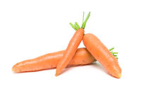 carrots closeup on white background