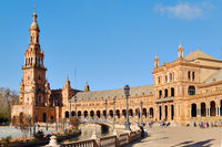 Plaza de Espana architecture. Sevilla. Spain