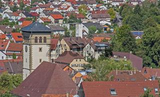 Stetten im Remstal mit St.-Veits -Kirche