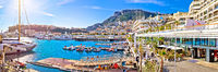 Monte Carlo yachting harbor and waterfront amazing panoramic view