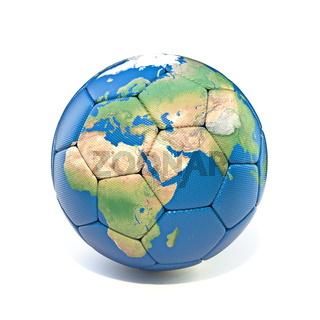 Earth soccer ball 3D