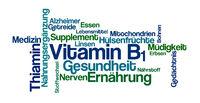 Word Cloud on a white background - Vitamin B1 (German)