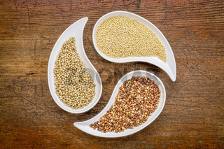 sorghum, millet and buckwheat