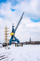 Winter im Stadthafen in Rostock
