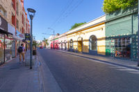 Cordoba Argentina Belgrano street in Guemes district at sunset