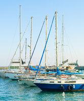 Yachts, motor boats, marina, Cyprus
