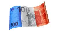 100 Euro Schein in Blau Weiß Rot (Frankreich-Fahne)