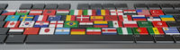 Computer keyboard with flags