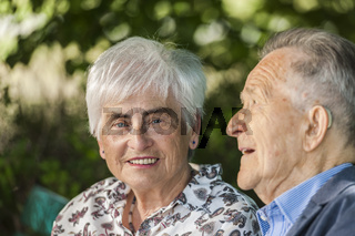 Head portrait of a retired couple