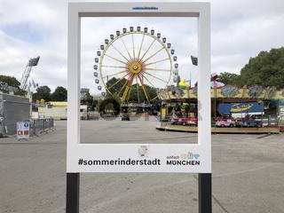 little fairground in Olympiapark Munich
