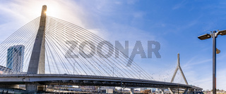 Boston Zakim bridge panorama