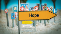Street Sign to Hope