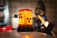 radioactive warning sign lamp