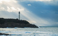 Biarritz lighthouse in France