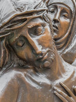Bronze Statue of Jesus Christ and Mary