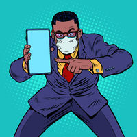 An African businessman in quarantine recommends online communication