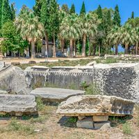 Huge stone blocks of the Ancient Theatre
