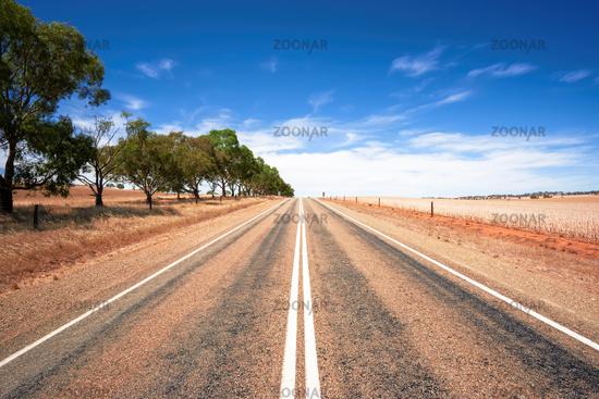 road in dry south Australia
